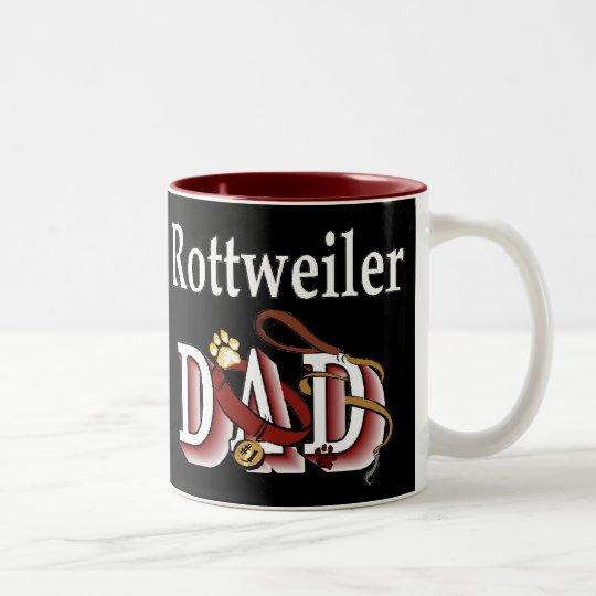 Rottweiler Dad Gifts Two-Tone Coffee Mug