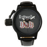 Rottweiler Dad Gifts Watches
