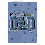Rottweiler DAD Greeting Cards