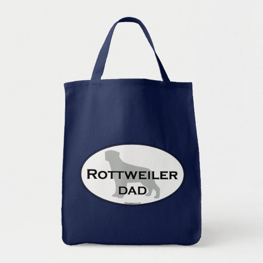 Rottweiler Dad Grocery Tote Bag