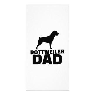 Rottweiler Dad Photo Card