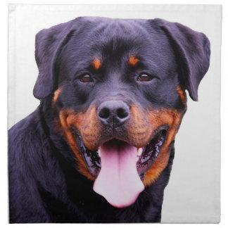 """""""Rottweiler"""" design cloth napkins"""