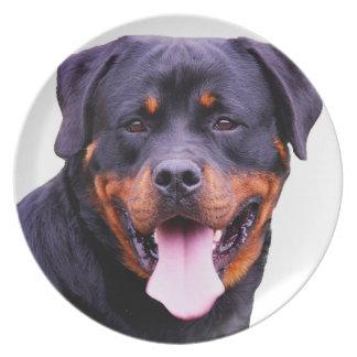 """Rottweiler"" design plates"
