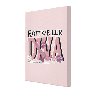 Rottweiler DIVA Stretched Canvas Prints