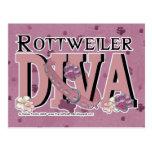 Rottweiler DIVA Postcard
