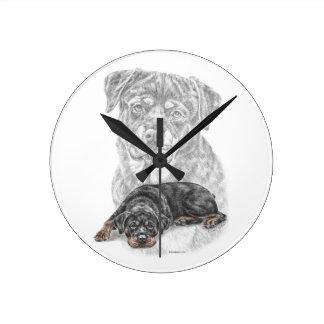 Rottweiler Dog Art Wall Clock