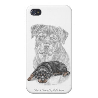 Rottweiler Dog Art Cover For iPhone 4