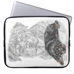 Neoprene Laptop Sleeve 15' with Rottweiler Phone Cases design