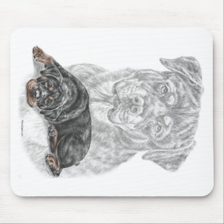 Rottweiler Dog Art Mouse Pad