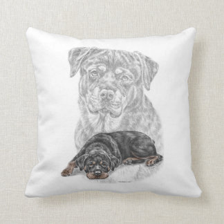 Rottweiler Dog Art Throw Pillows