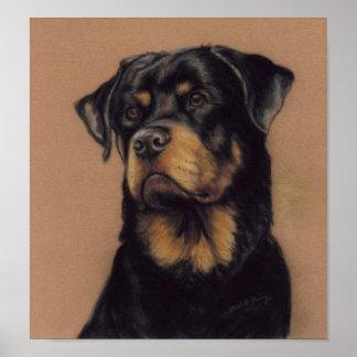 Rottweiler Dog Art Print