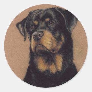 """""""Rottweiler"""" Dog Art Sticker"""