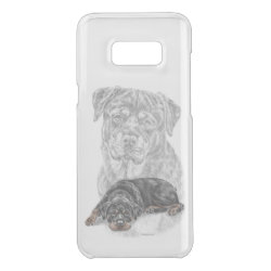 Uncommon Samsung Galaxy S8+ Clearly™ Deflector Case with Rottweiler Phone Cases design
