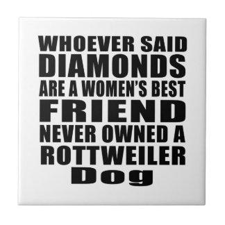 ROTTWEILER DOG BEST FRIEND DESIGNS TILE