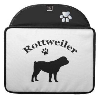 Rottweiler dog black silhouette macbook air sleeve MacBook pro sleeves