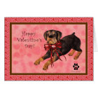 Rottweiler Dog Blank Valentine's Day Card