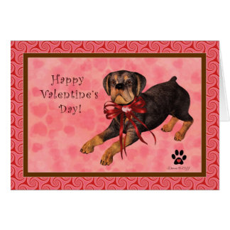 Rottweiler Dog Blank Valentine's Day Card