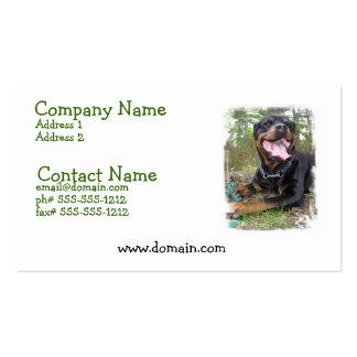 Rottweiler Dog Business Card