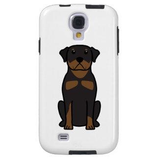 Rottweiler Dog Cartoon Galaxy S4 Case