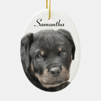 Rottweiler dog ceramic ornament