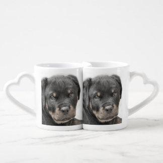 Rottweiler dog coffee mug set