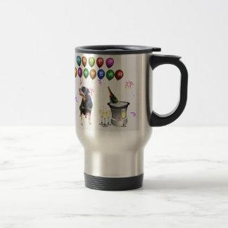 Rottweiler Dog Happy New Year Travel Mug