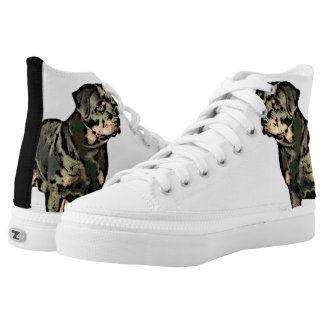 Rottweiler dog High-Top sneakers