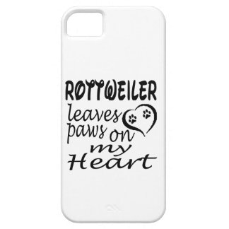 Rottweiler Dog Leaves Paw On My Heart iPhone 5 Case