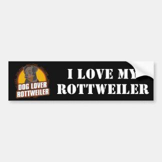 Rottweiler Dog Lover Car Bumper Sticker