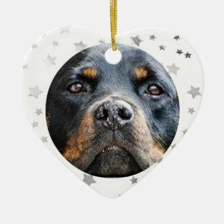 Rottweiler | Dog Lover Stars Christmas Ornament
