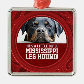 Rottweiler Dog Mississippi Leg Hound Pet Photo Metal Ornament