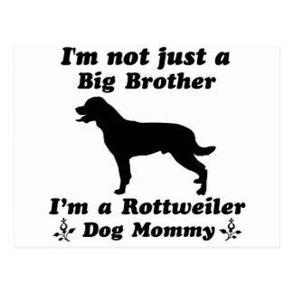 rottweiler dog mommy postcard