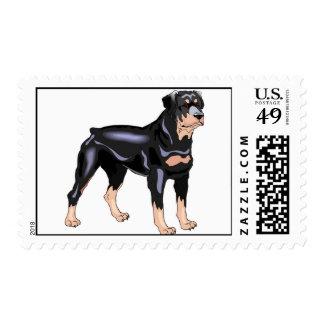 Rottweiler Dog Postage Stamps