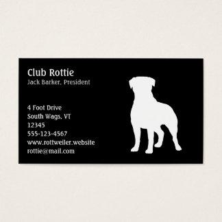 Rottweiler Dog Silhouette Business Card