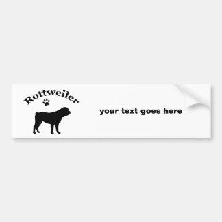 Rottweiler dog silhouette custom bumper sticker