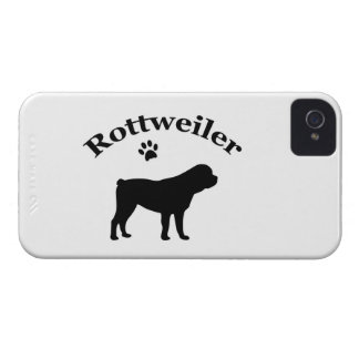 Rottweiler dog silhouette iphone 4 cas mate barely iPhone 4 cover