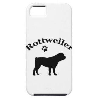 Rottweiler dog silhouette iphone 5 case mate tough