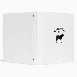 Rottweiler dog silhouette photo album, binder