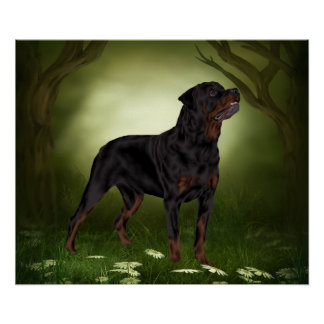 Rottweiler Dog, The Guardian Poster