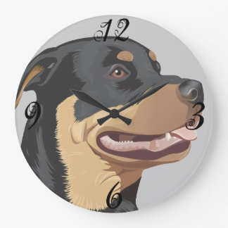 Rottweiler Dog  Wall Clock