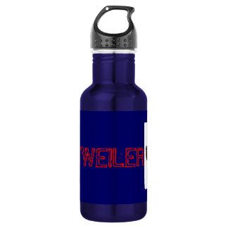 rottweiler dog! woof wooof ! stainless steel water bottle