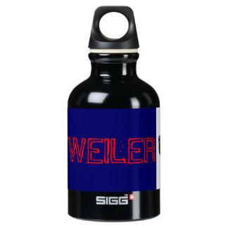 rottweiler dog! woof wooof ! water bottle