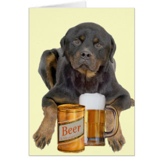 Rottweiler Don't Touch My Beer Greeting Card