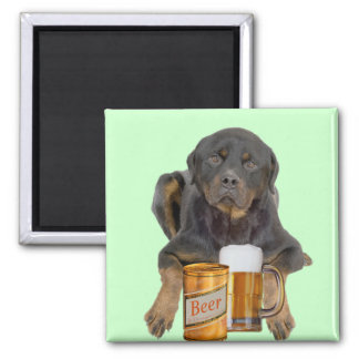 Rottweiler Don't Touch My Beer Magnet