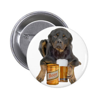 Rottweiler Don't Touch My Beer Pinback Button