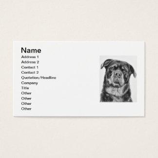 Rottweiler Drawing Business Card