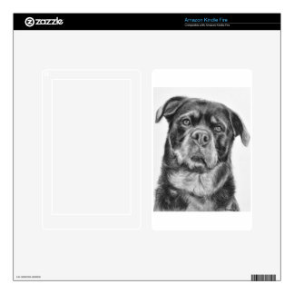 Rottweiler Drawing Kindle Fire Decals