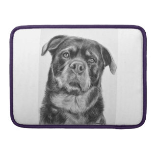 Rottweiler Drawing Sleeves For MacBooks