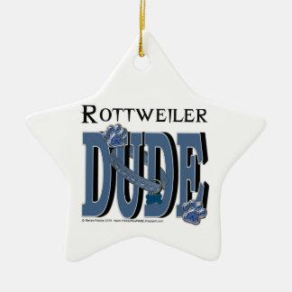 Rottweiler DUDE Ceramic Ornament