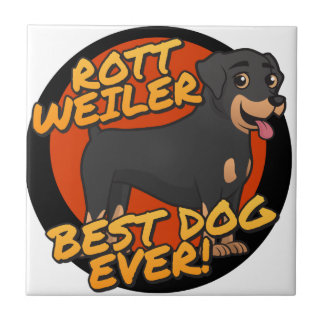 ¡Rottweiler - el mejor perro nunca! Azulejo Cuadrado Pequeño